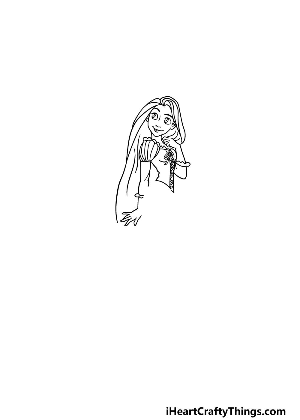 drawing Rapunzel step 4