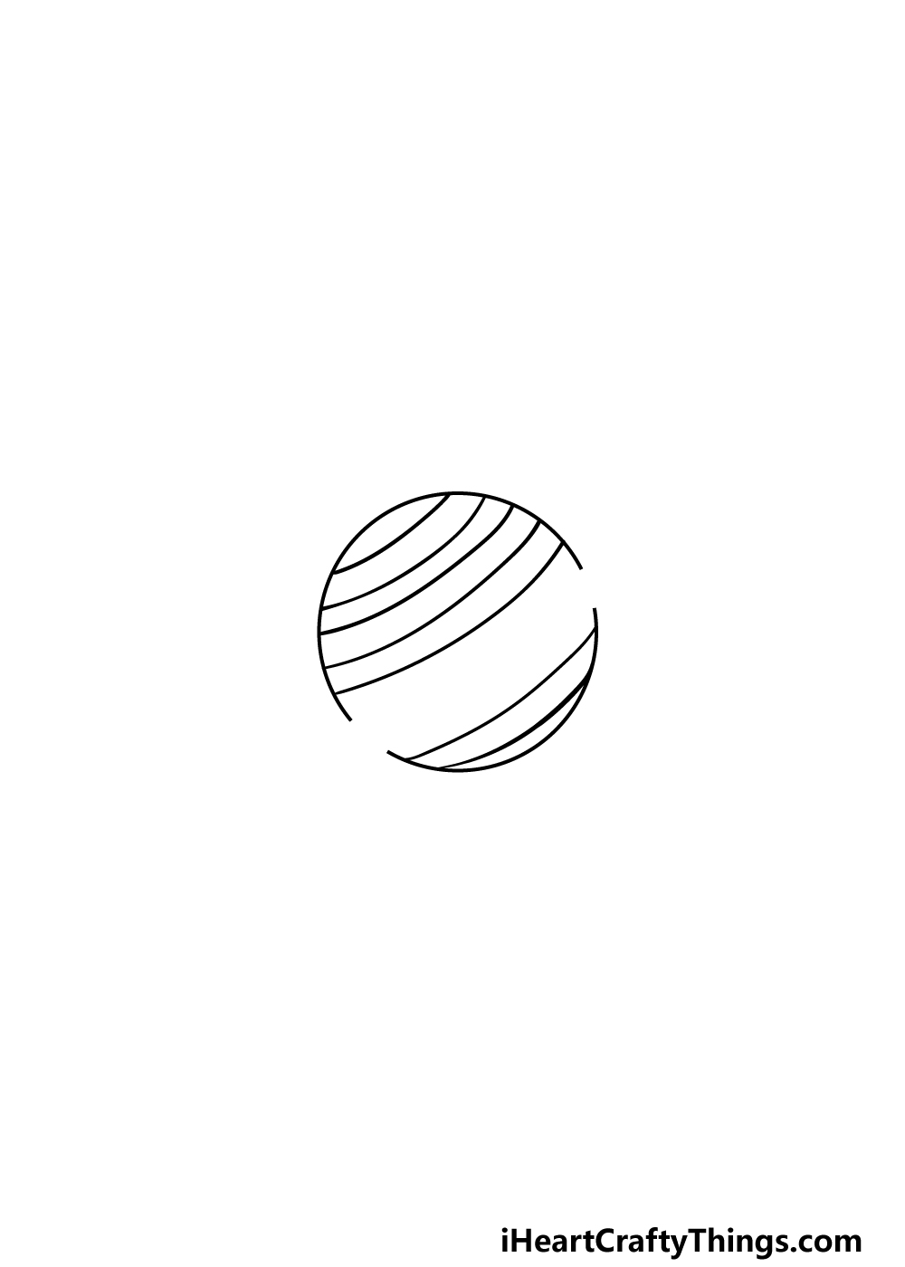 drawing Saturn step 4