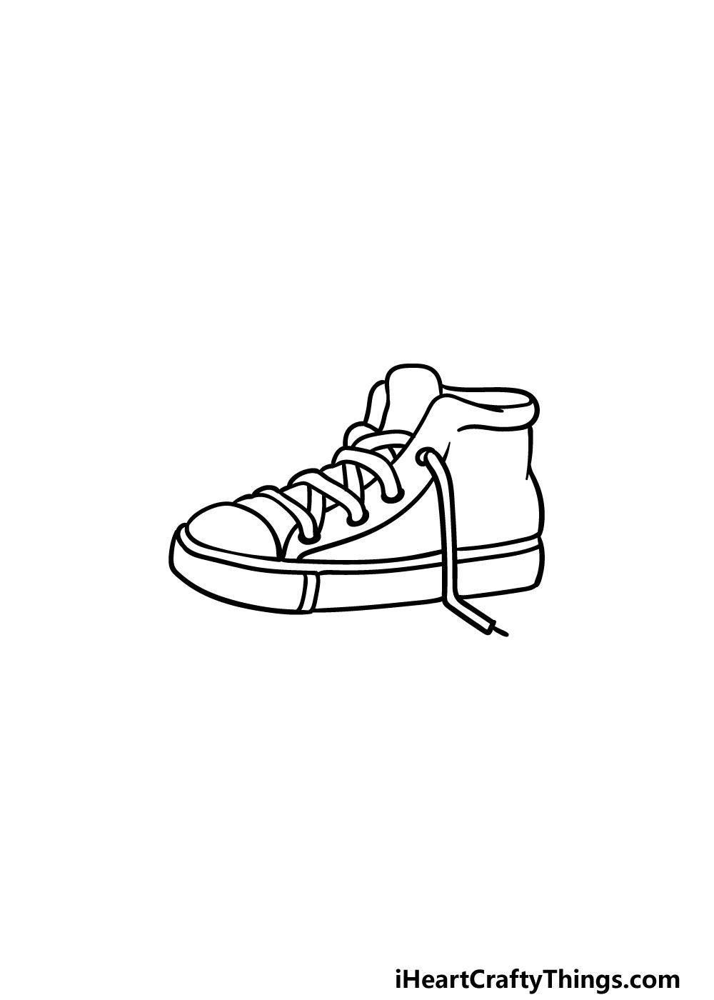 drawing sneakers step 4