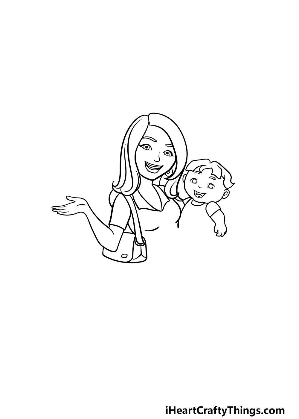 drawing a mom step 4