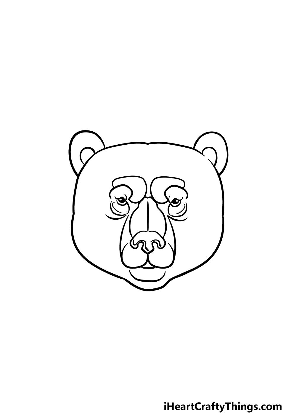 drawing a bear face step 4