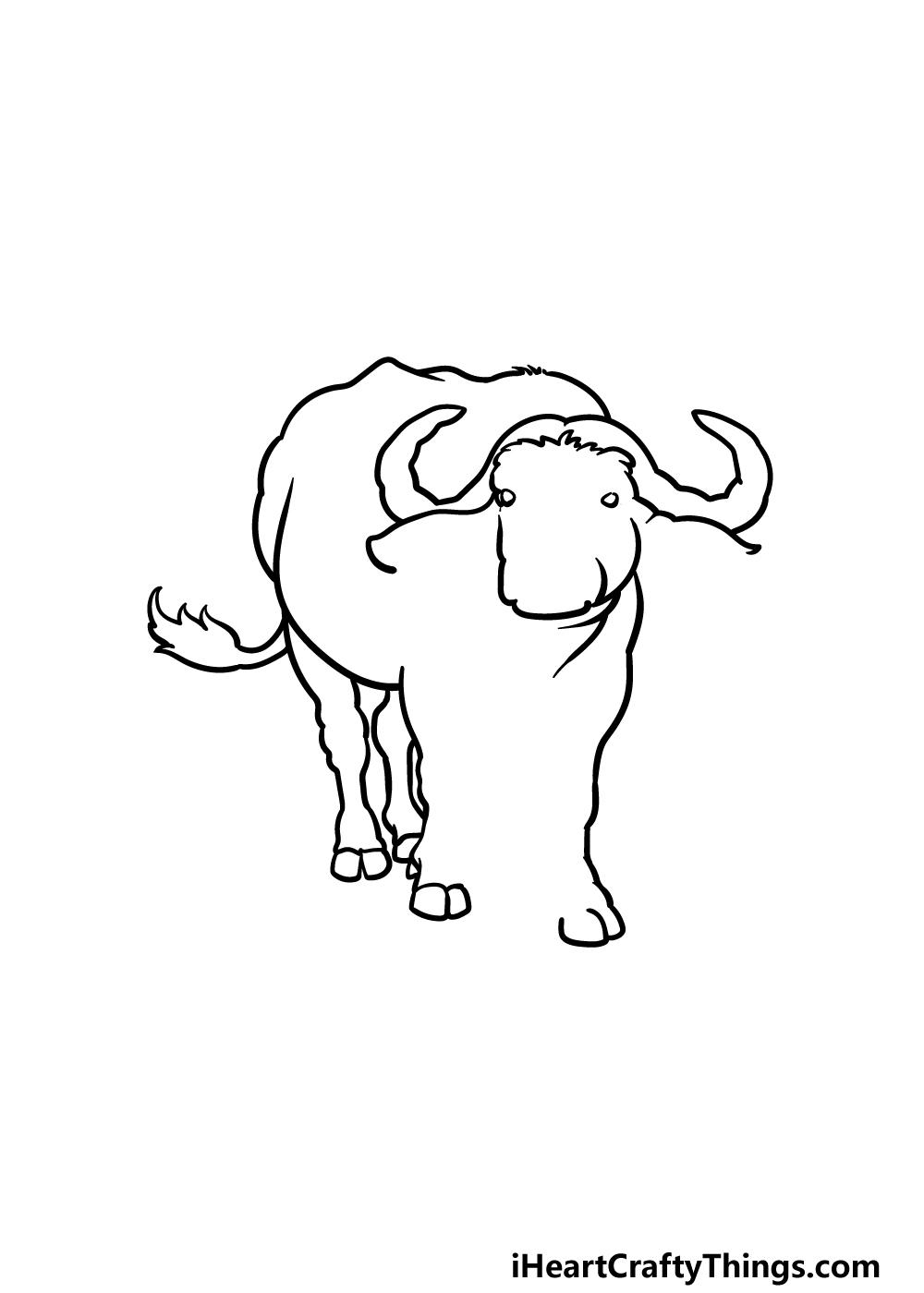 drawing buffalo step 4