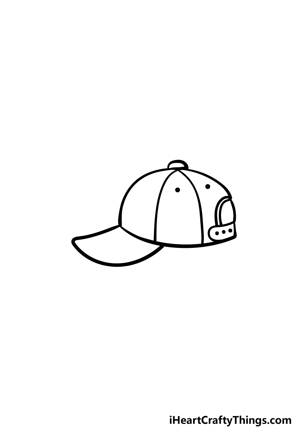 drawing a cap step 4