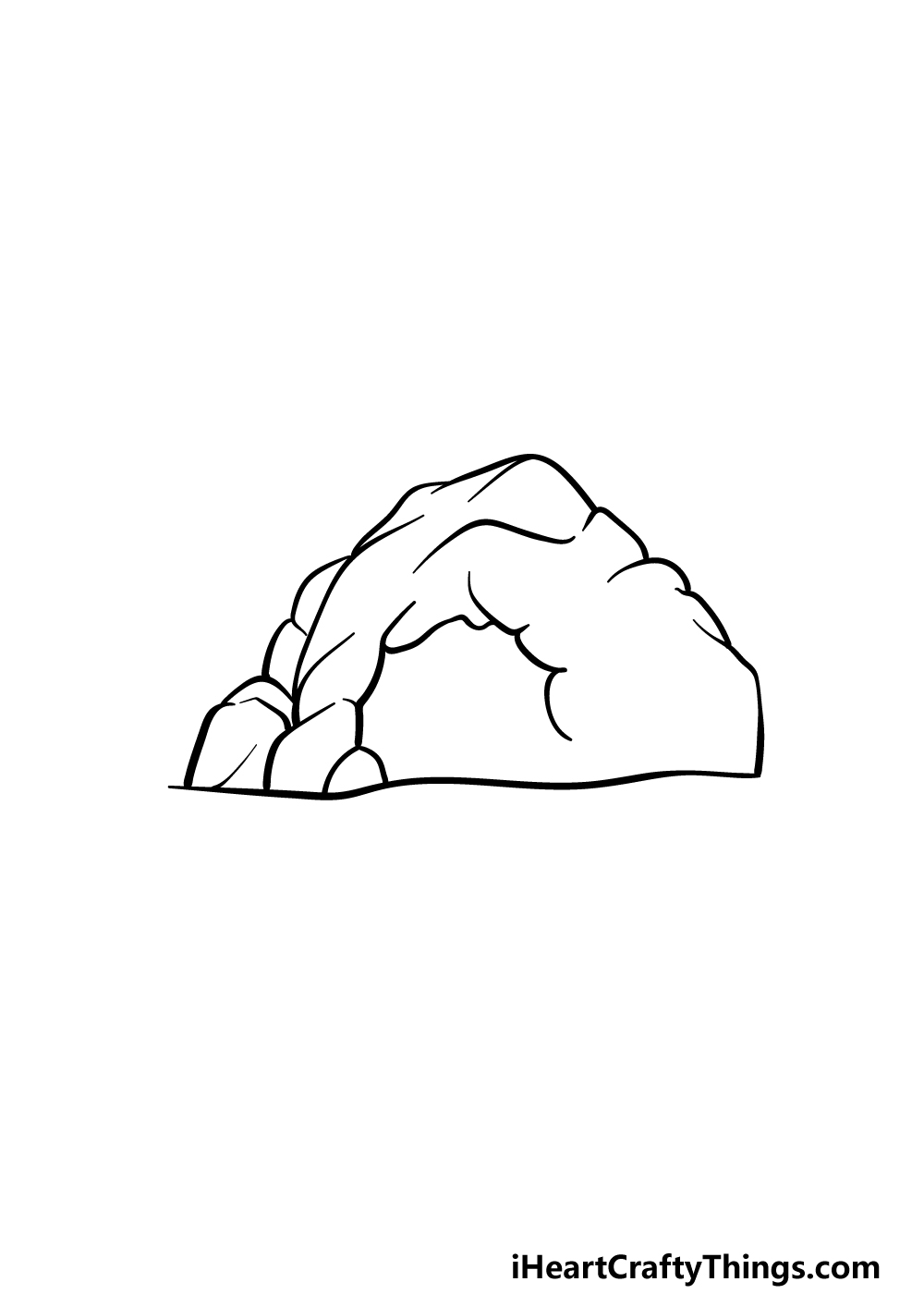 drawing a cave step 4