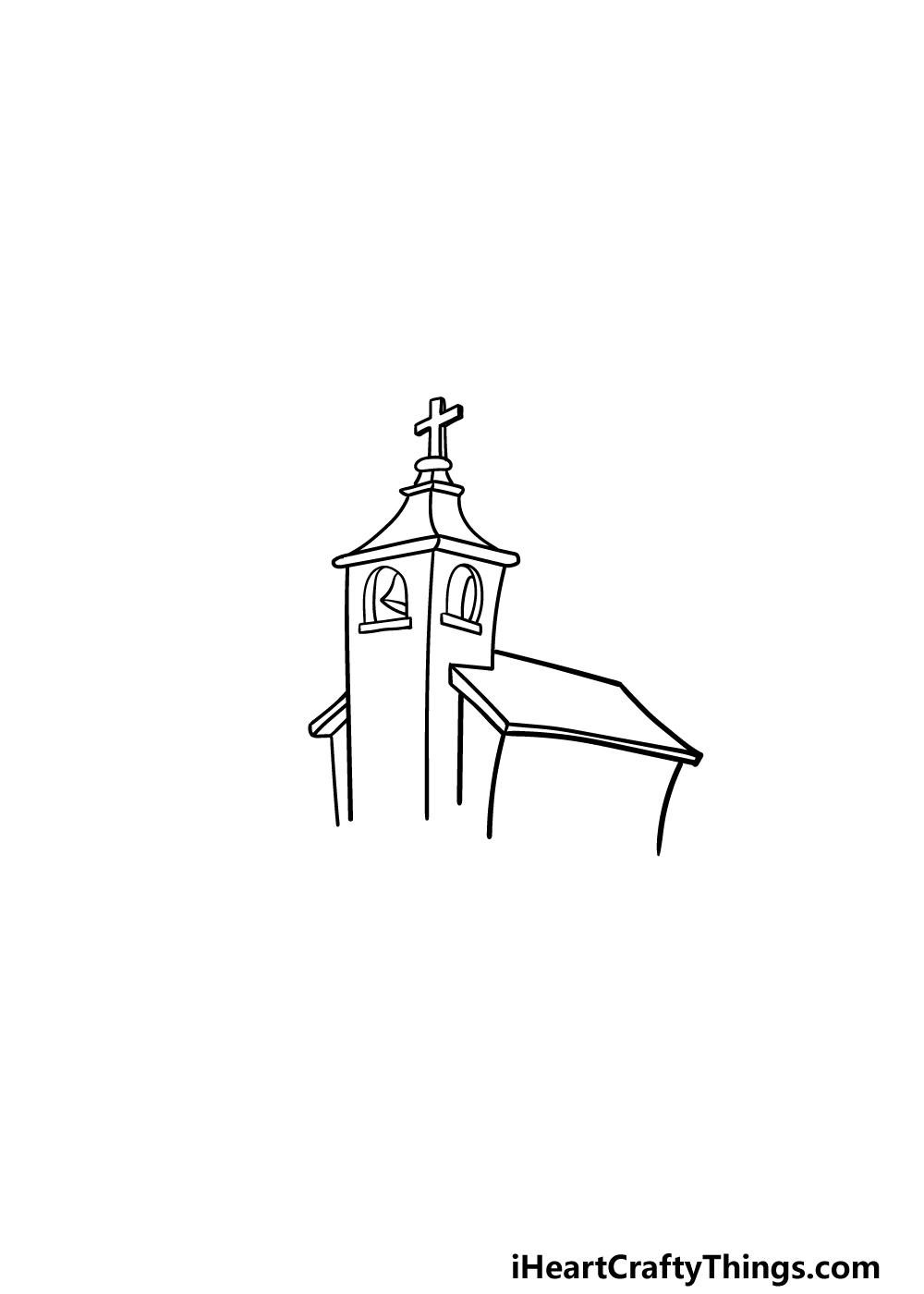 drawing a church step 4