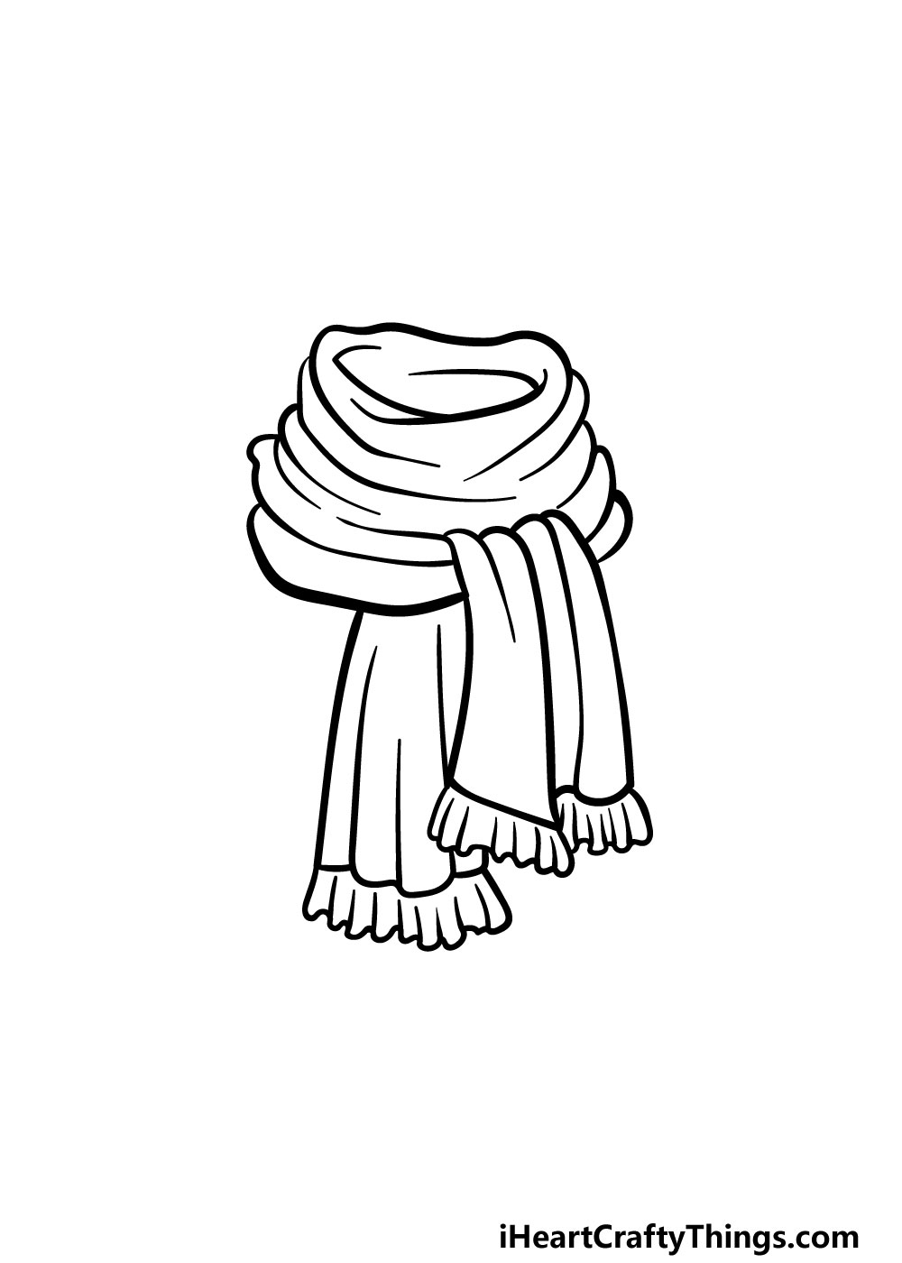 drawing a scarf step 4