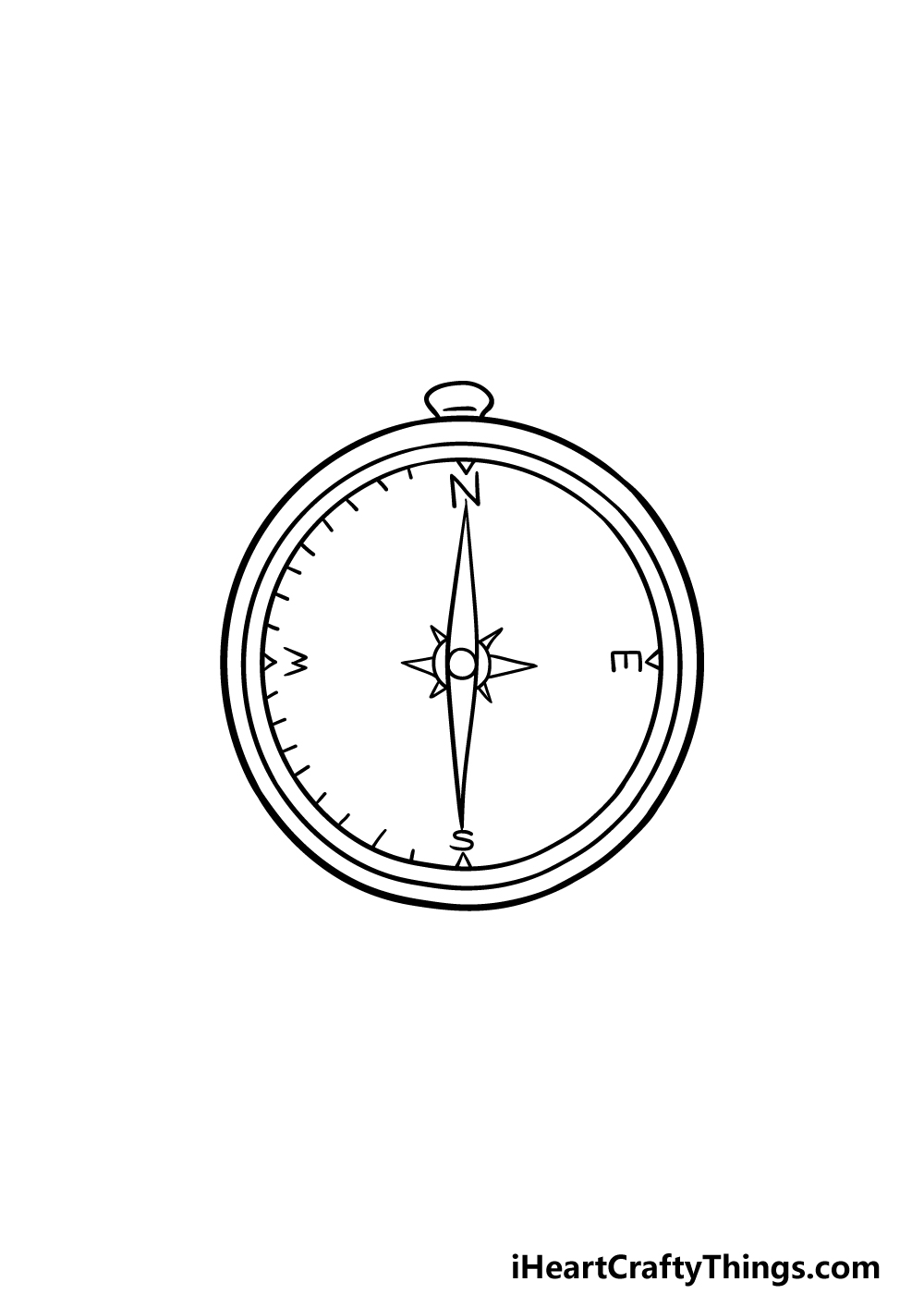 drawing a compass step 4