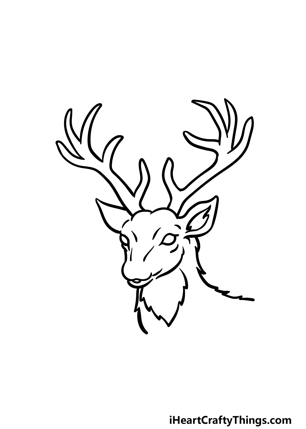 drawing deer's head step 4