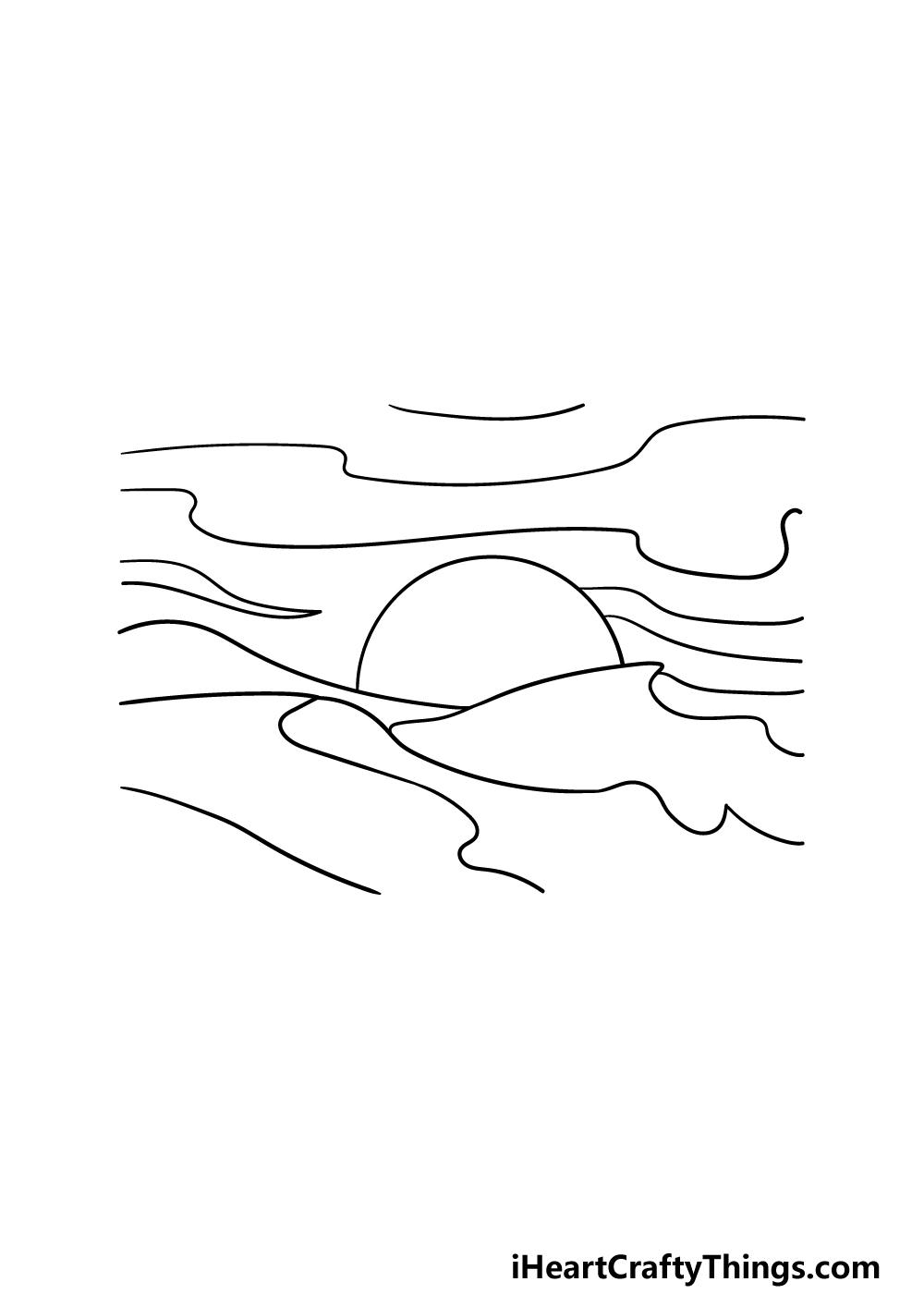 drawing a desert step 4
