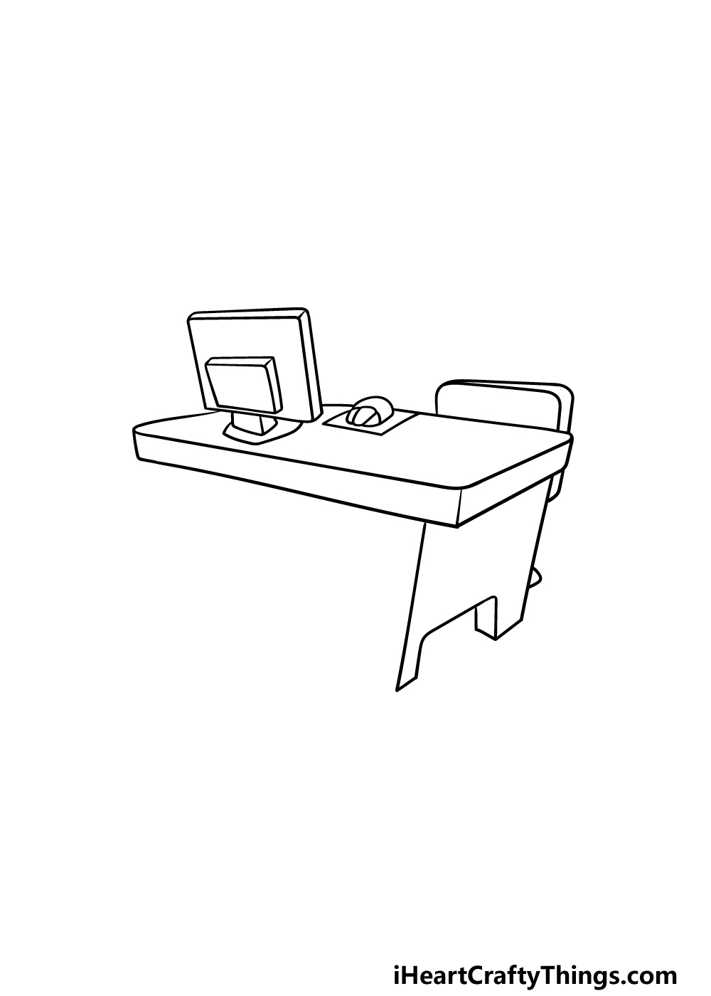 drawing a desk step 4