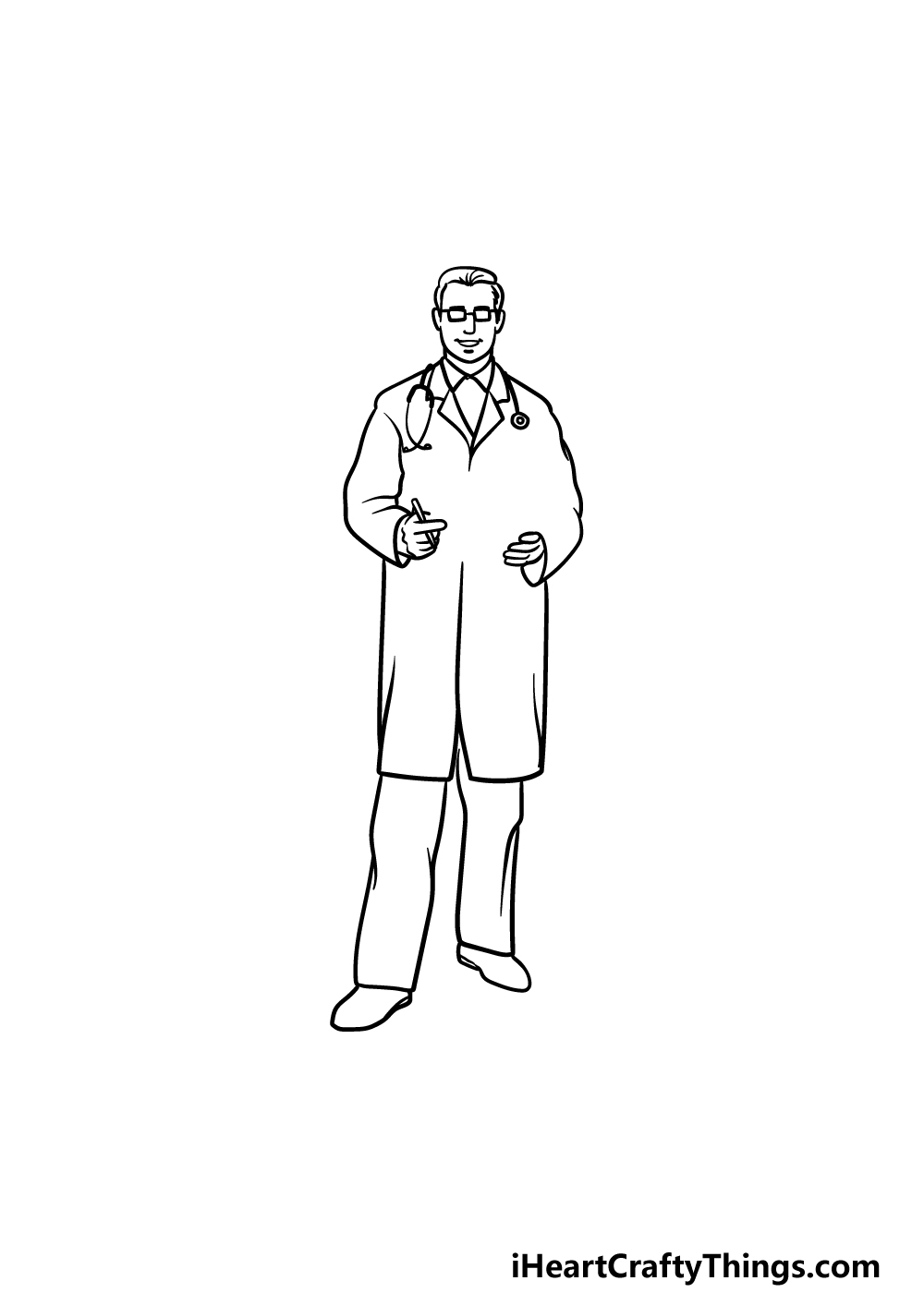 drawing a doctor step 4