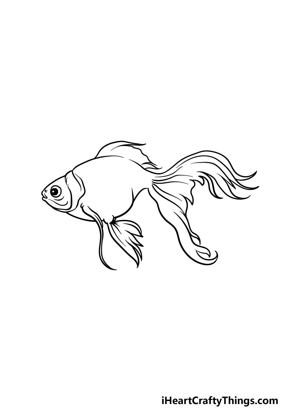 drawing a goldfish step 4