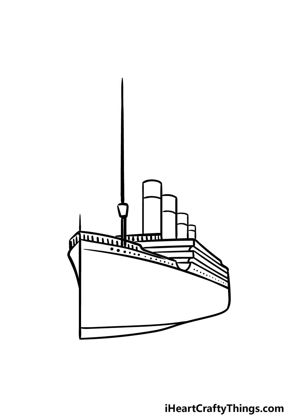 drawing titanic step 4