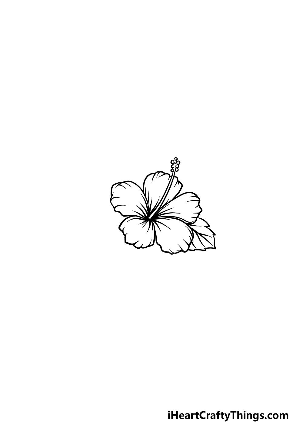 drawing Hawaiian Flower step 4
