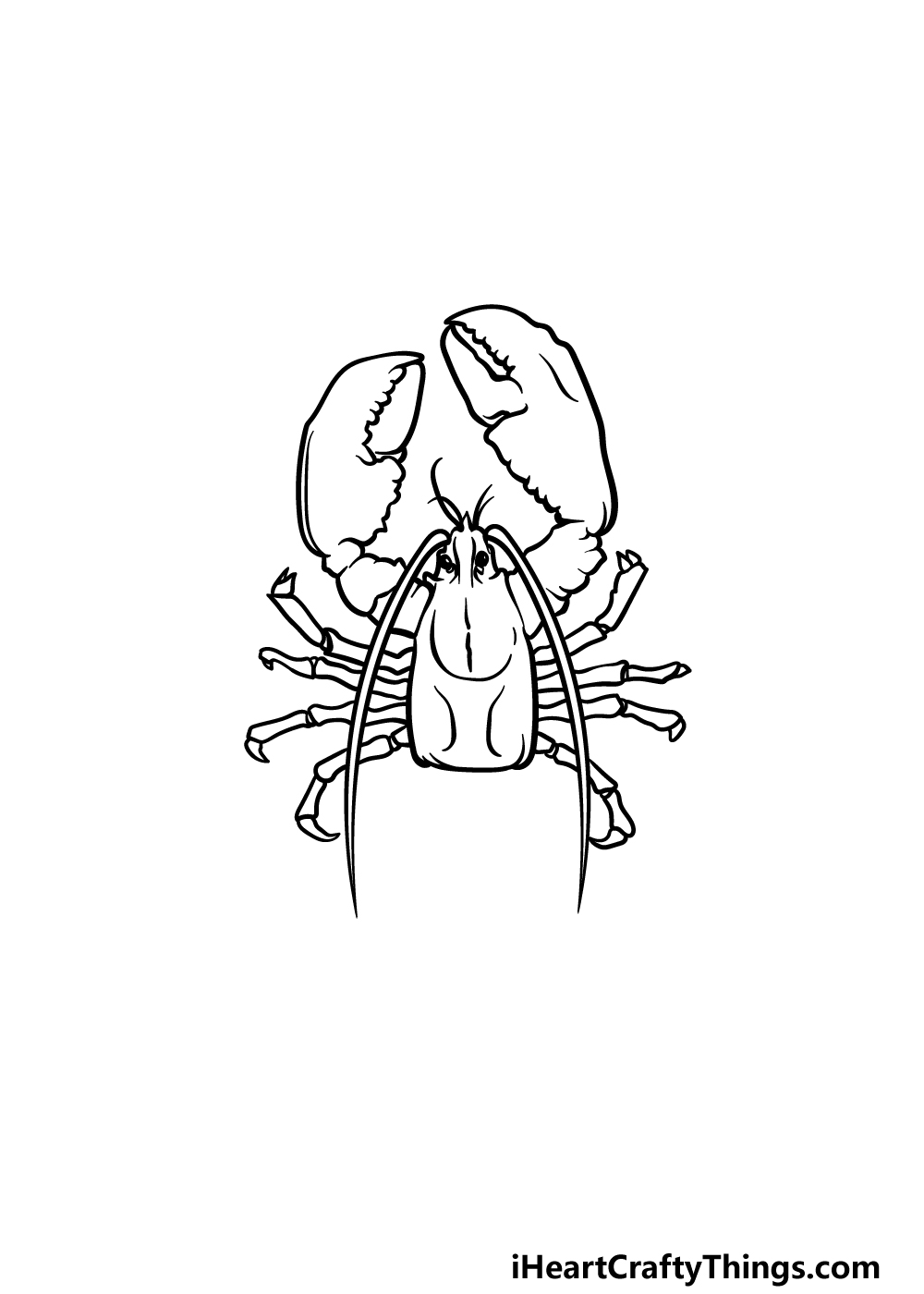 drawing a lobster step 4