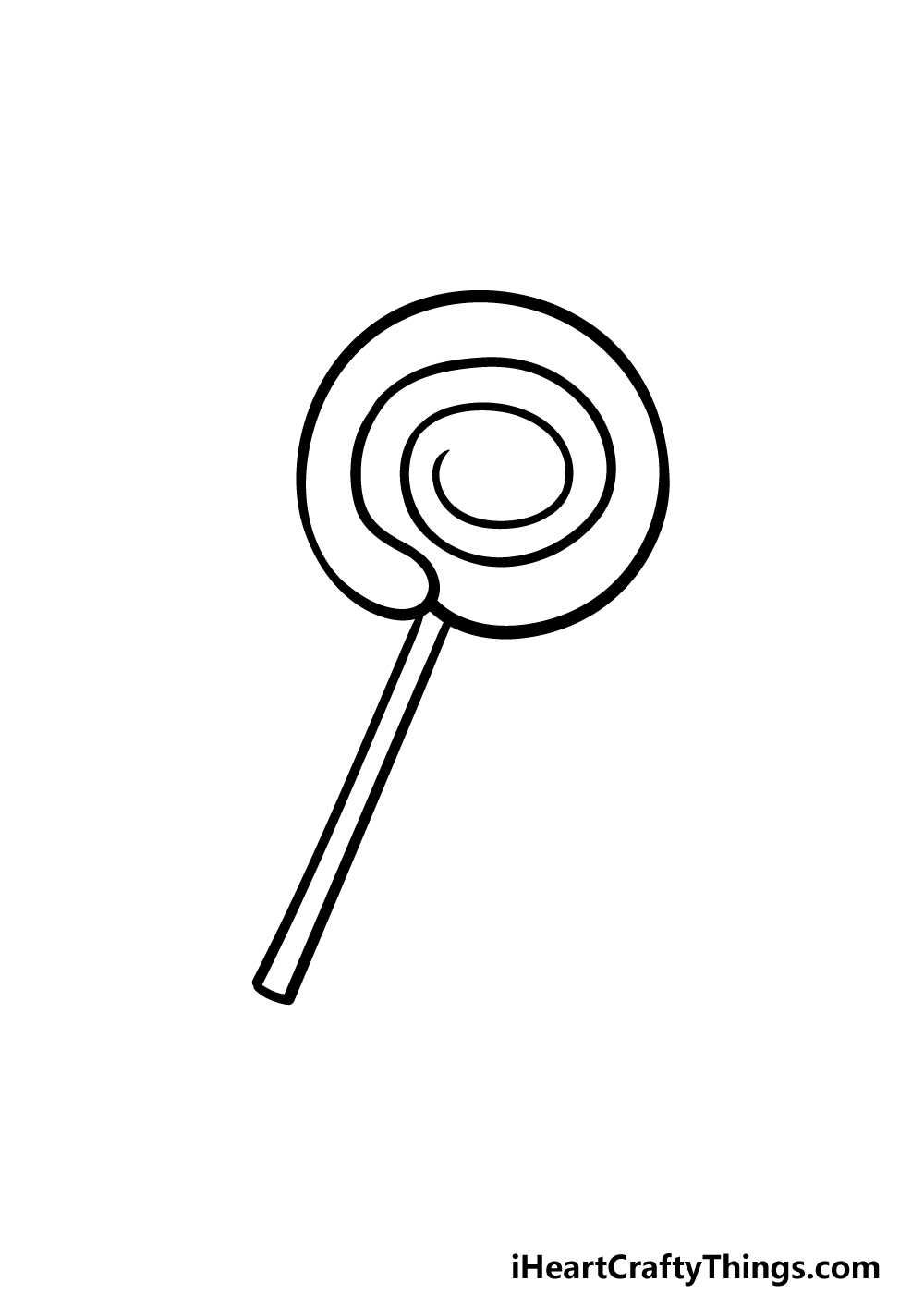 drawing a lollipop step 4