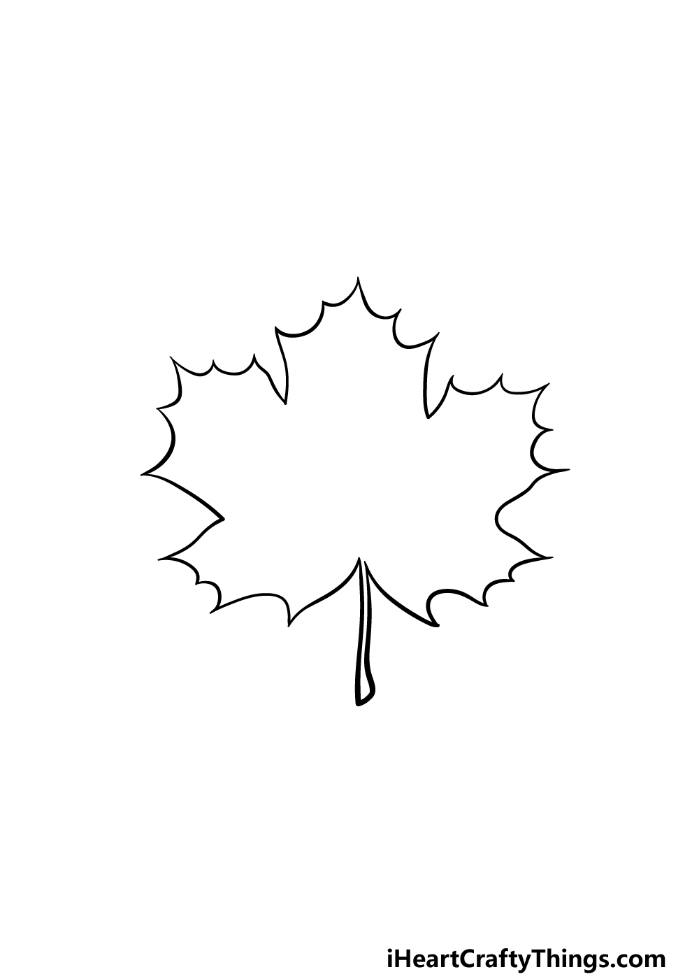 drawing a maple leaf step 4