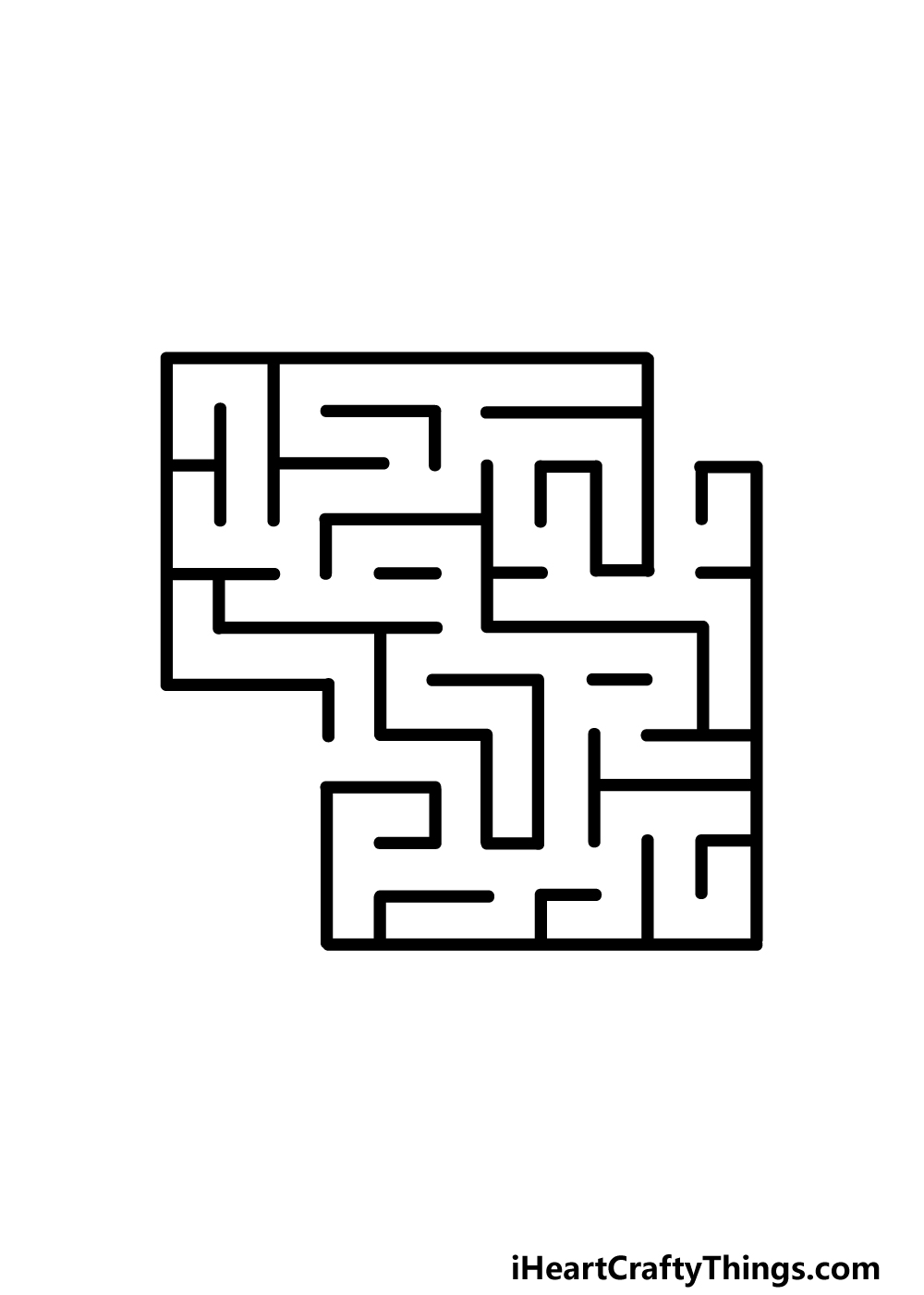 drawing a maze step 4