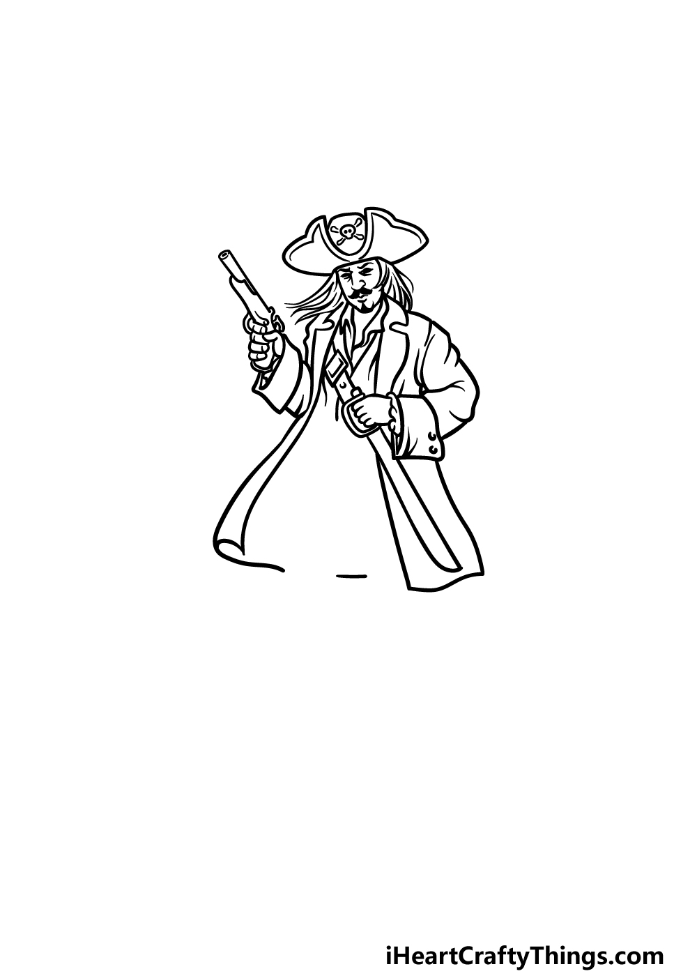 drawing a pirate step 4