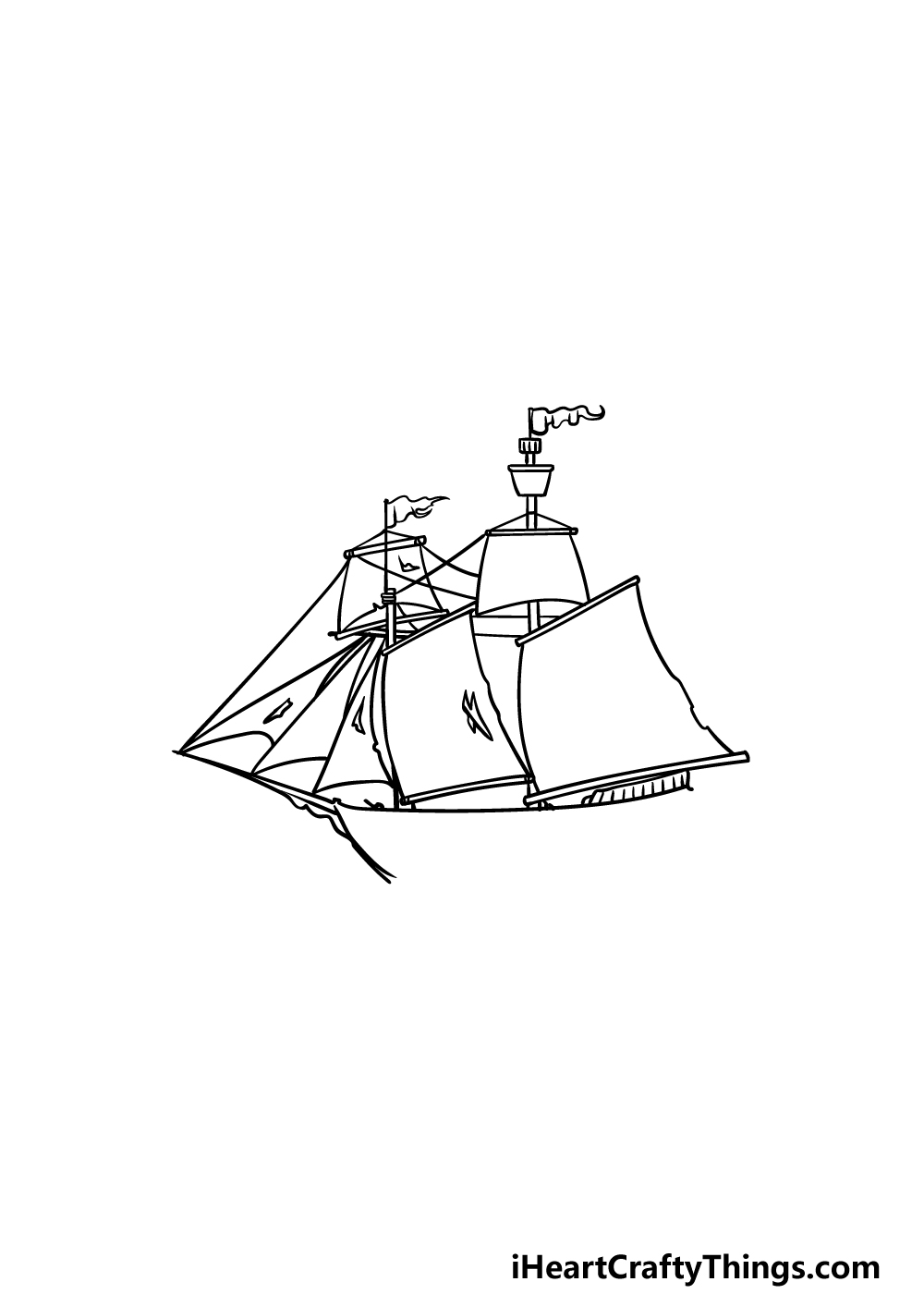 drawing a pirate ship step 4