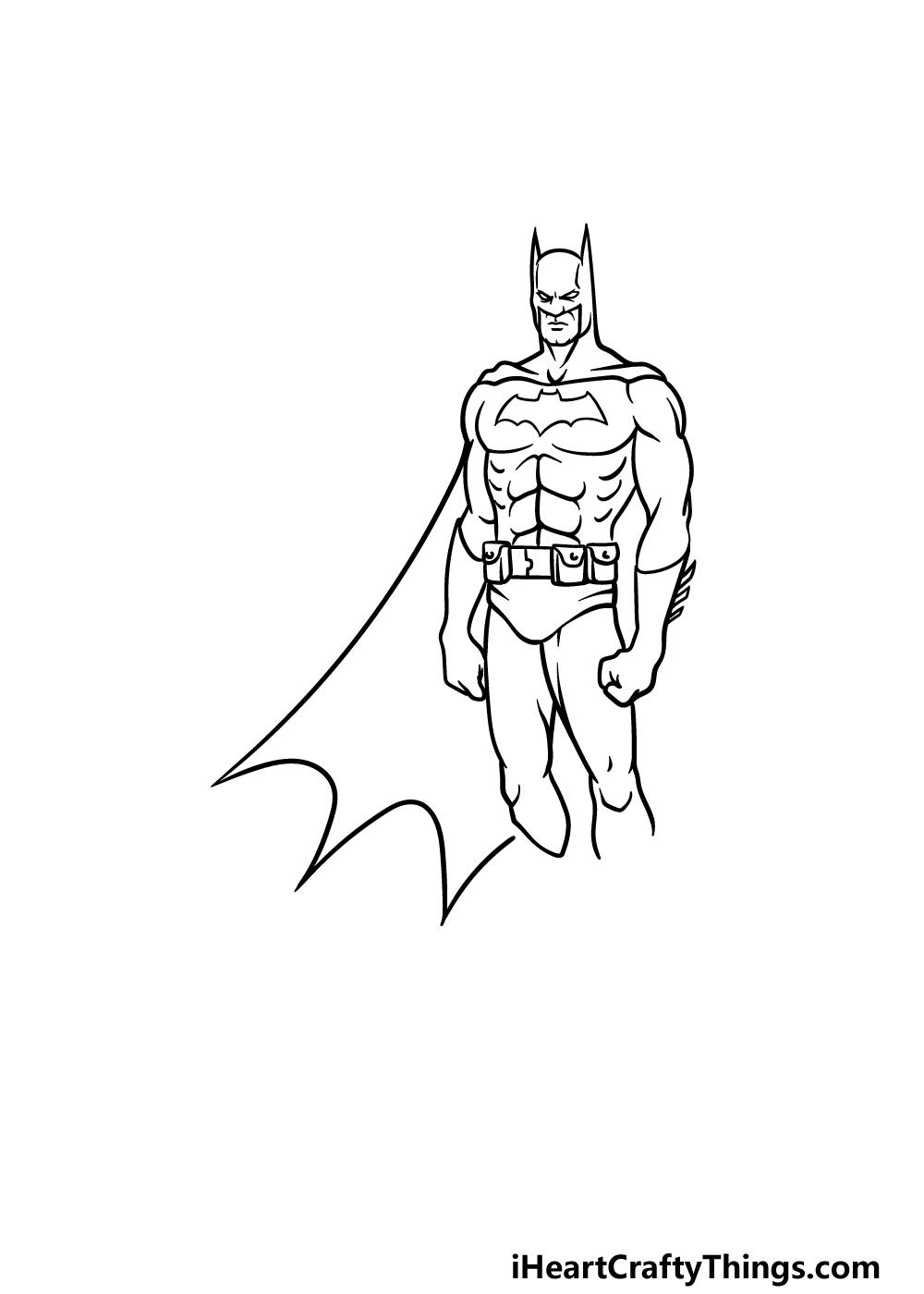 drawing Batman step 4