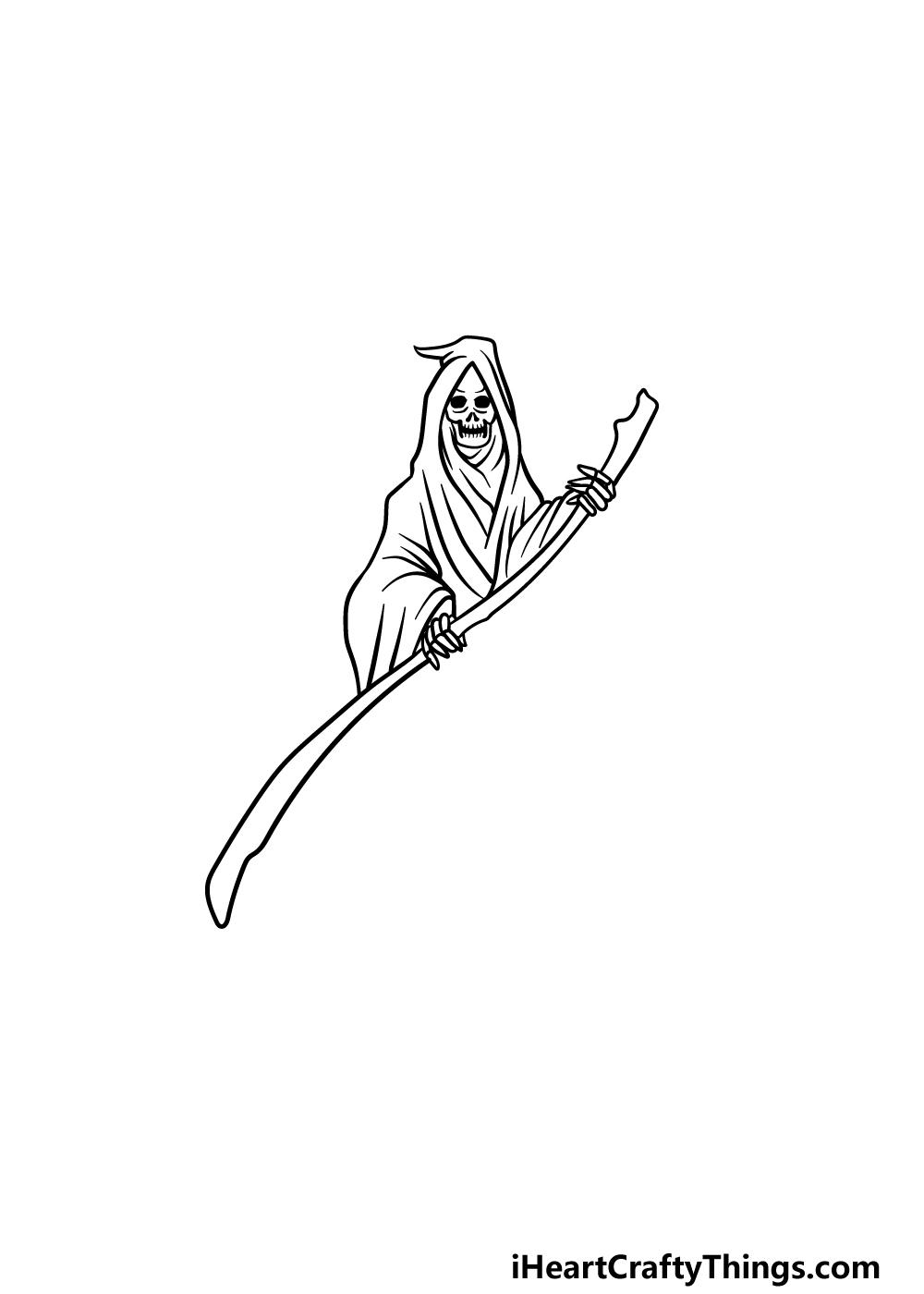 drawing grim reaper step 4