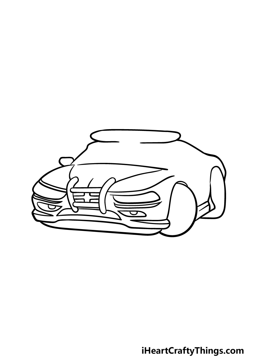 drawing a police car step 4