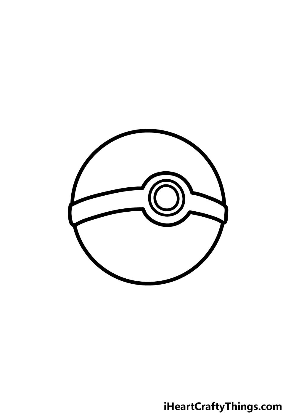 drawing pokeball step 4