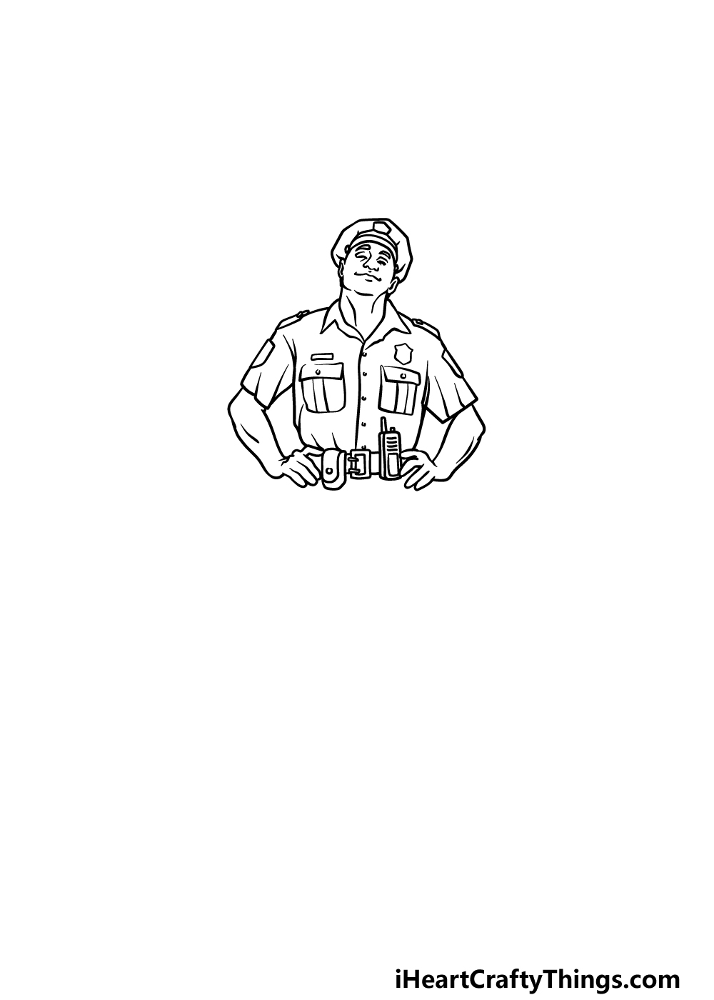 drawing a police officer step 4