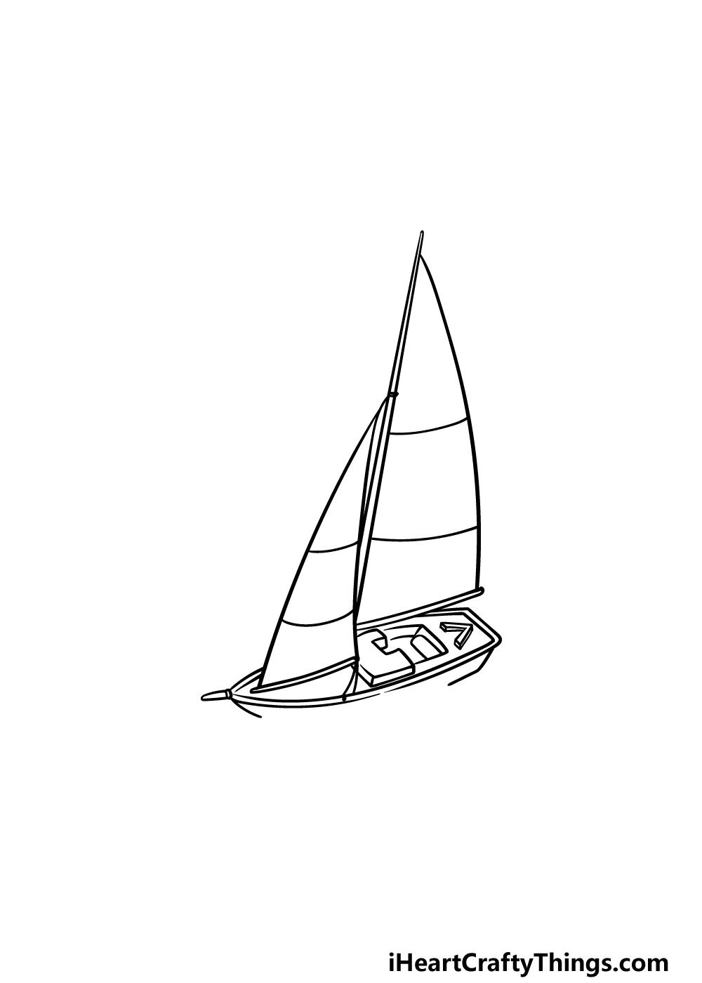 drawing a sailboat step 4