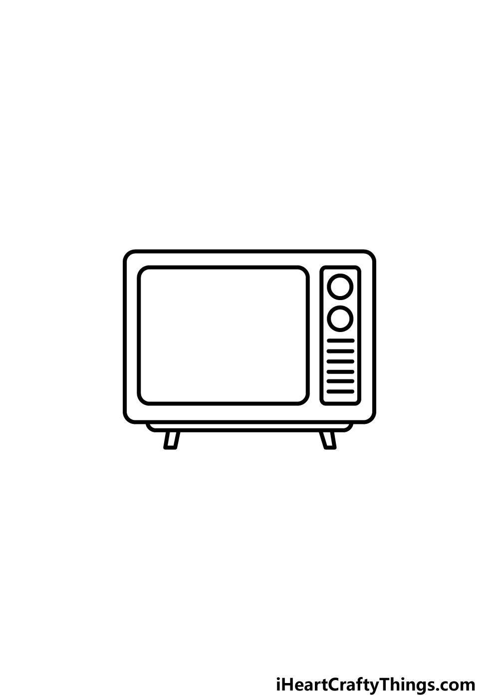 drawing a TV step 4