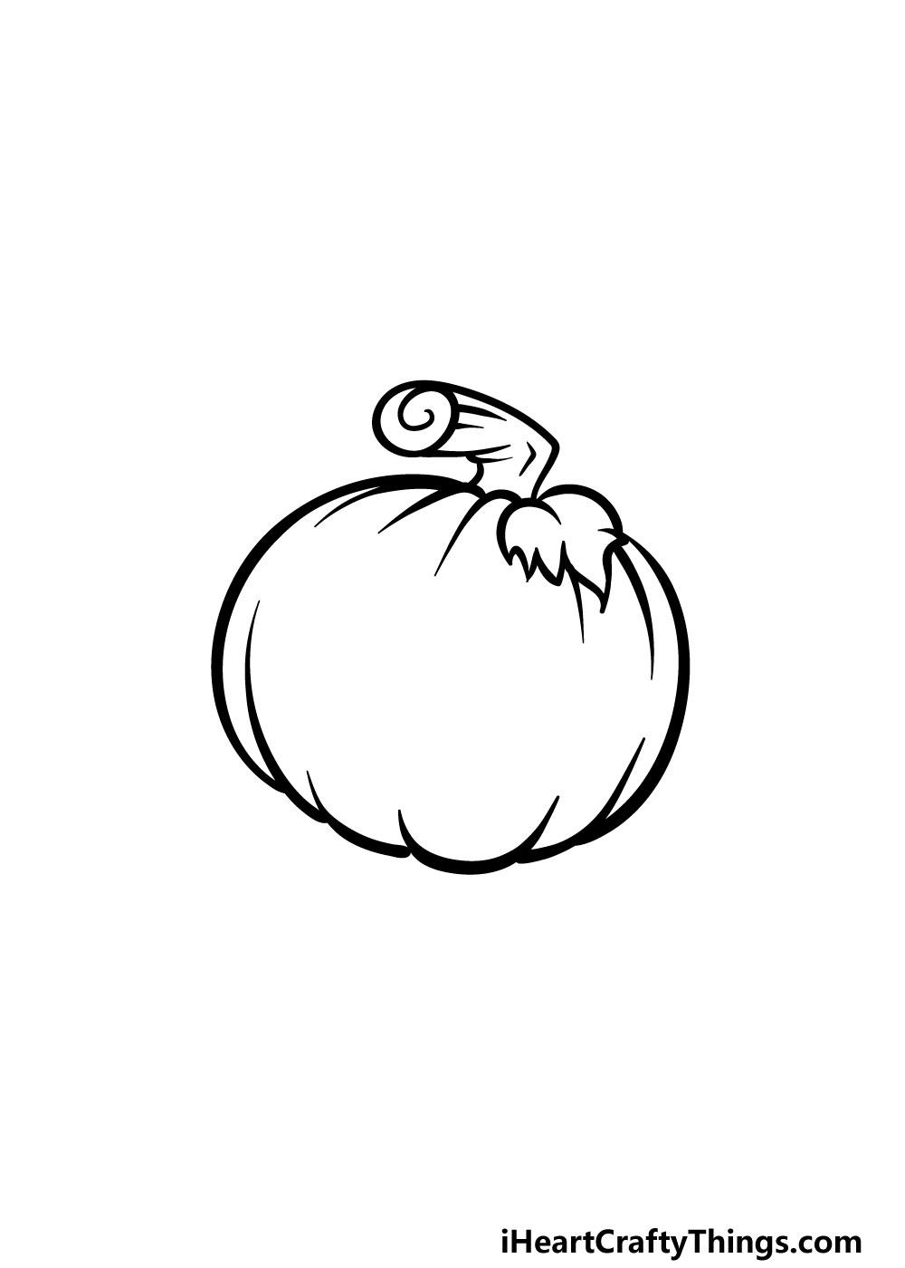 drawing jack-o-lantern step 4