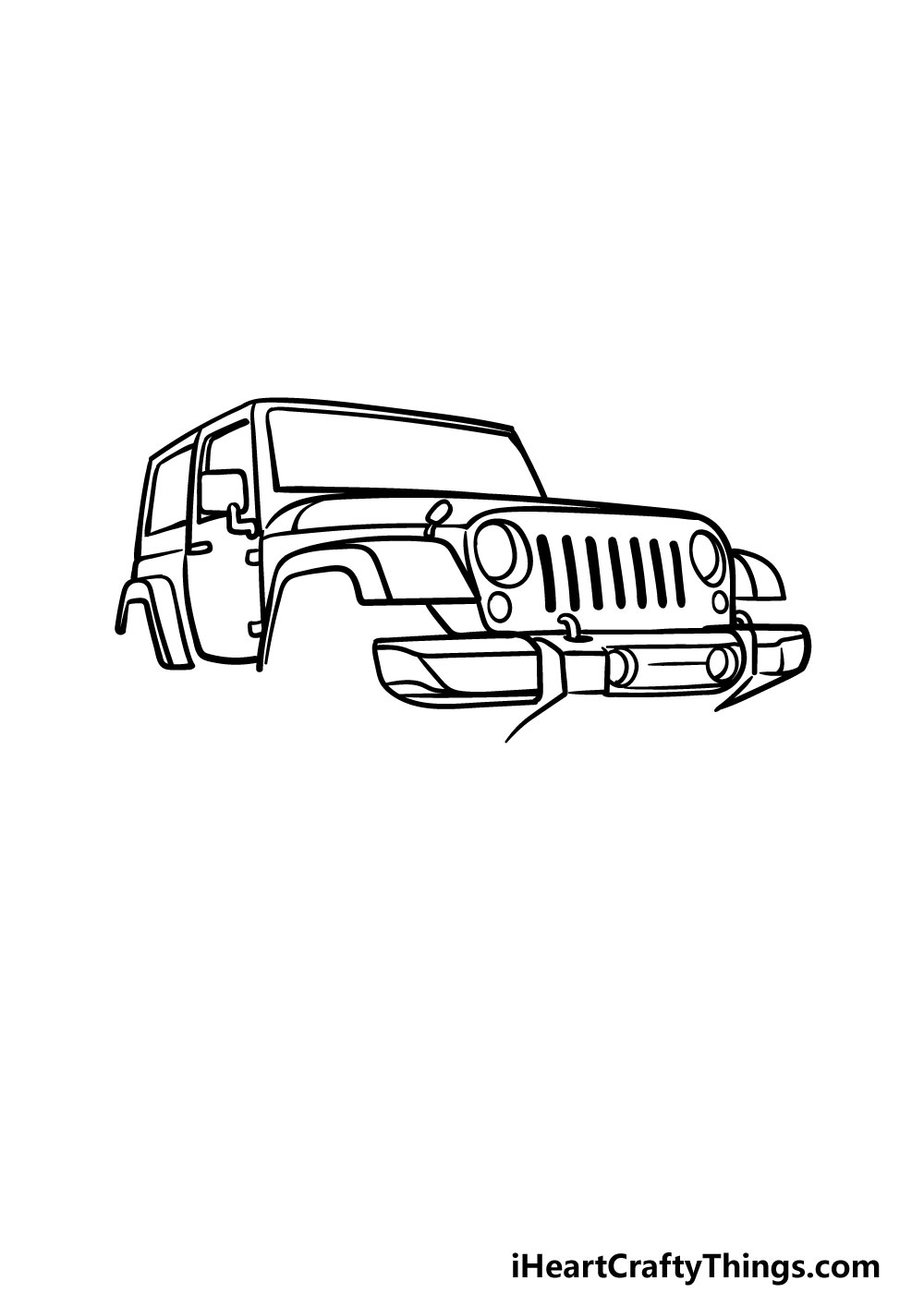 drawing a jeep step 5