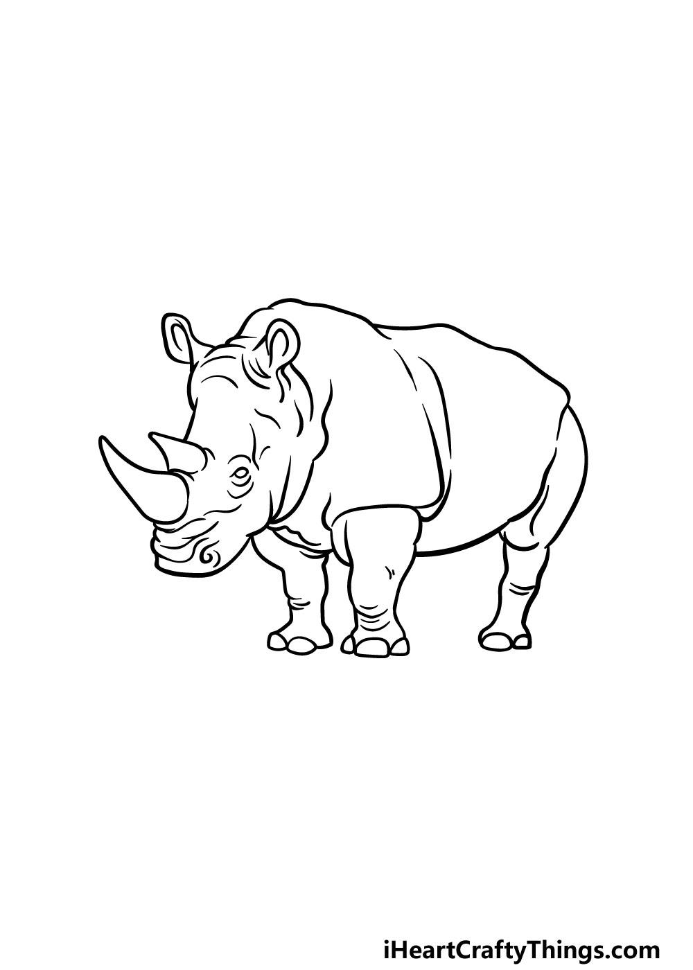 drawing a rhino step 5