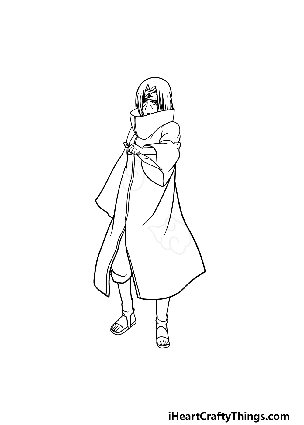 drawing Itachi step 5