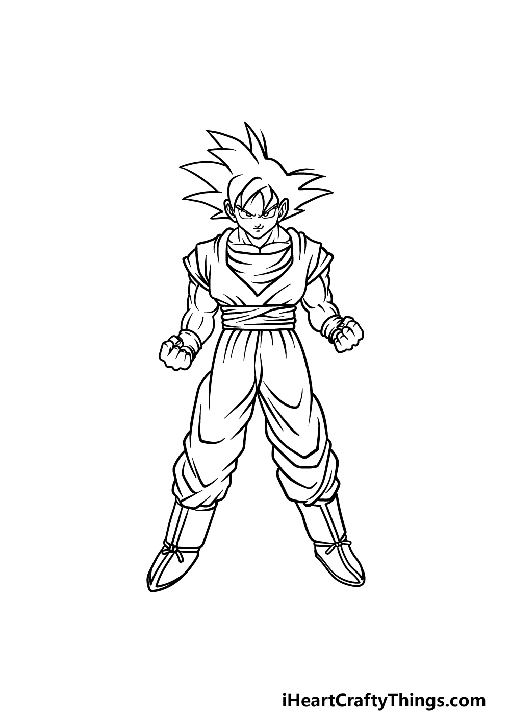 drawing Goku step 5
