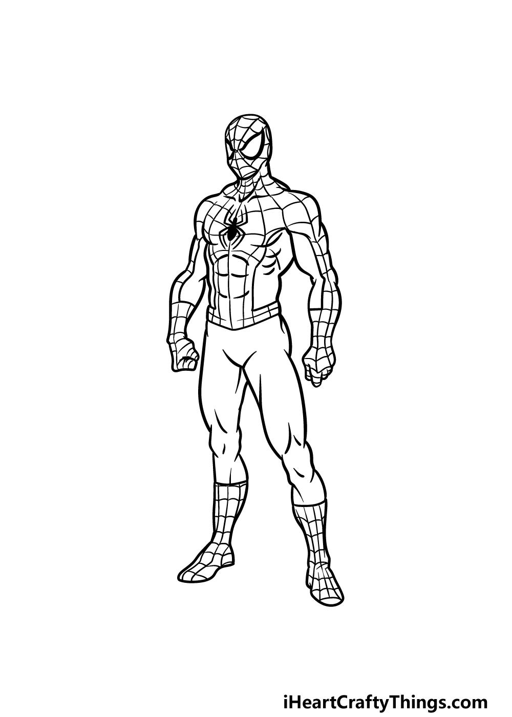 drawing Spiderman step 5