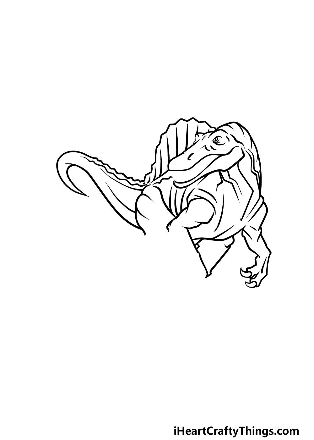 drawing Spinosaurus step 5