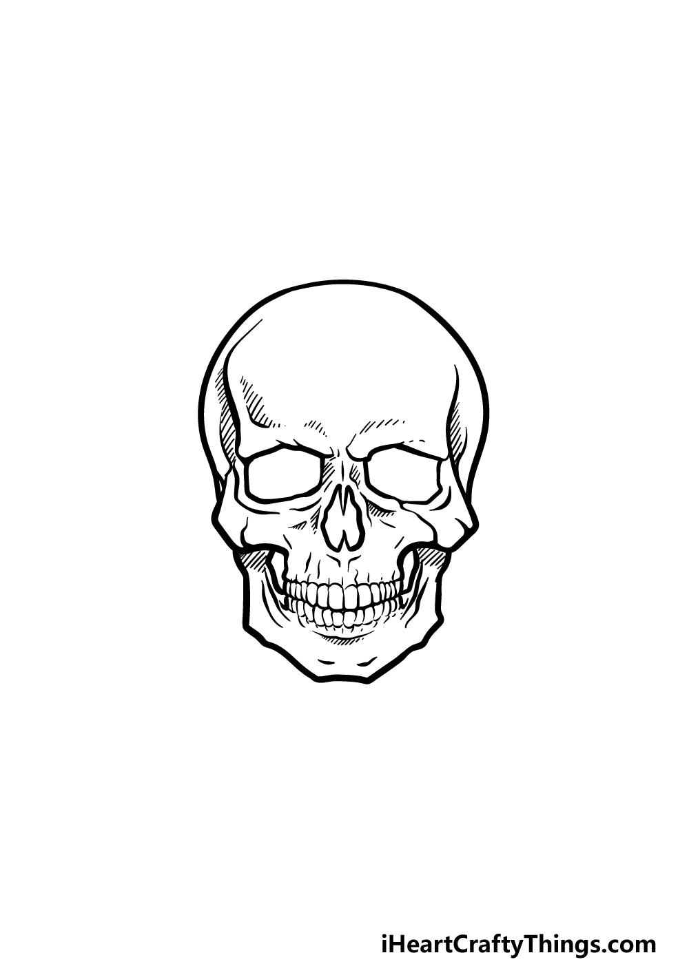 drawing a skeleton head step 5