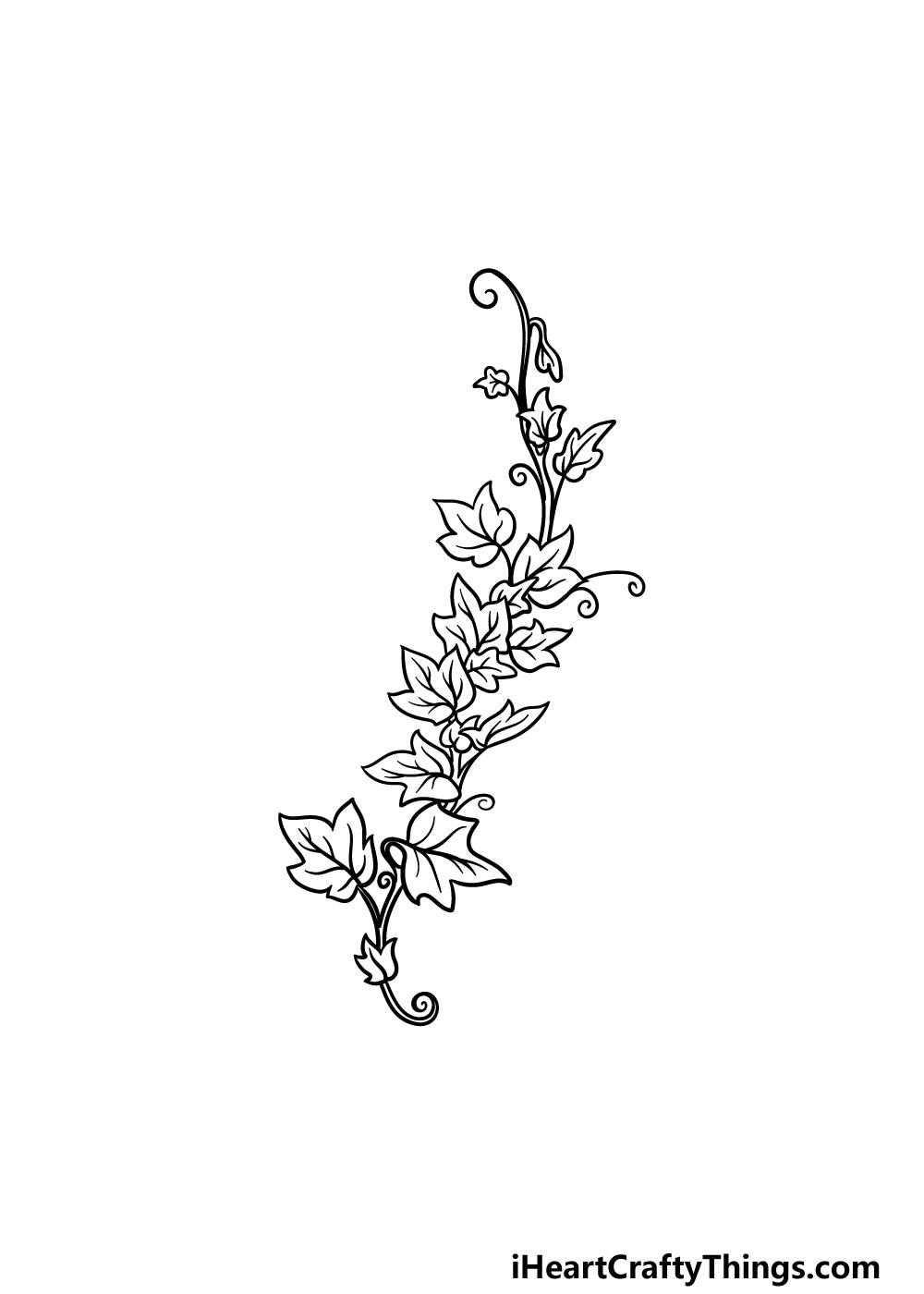 drawing vines step 5