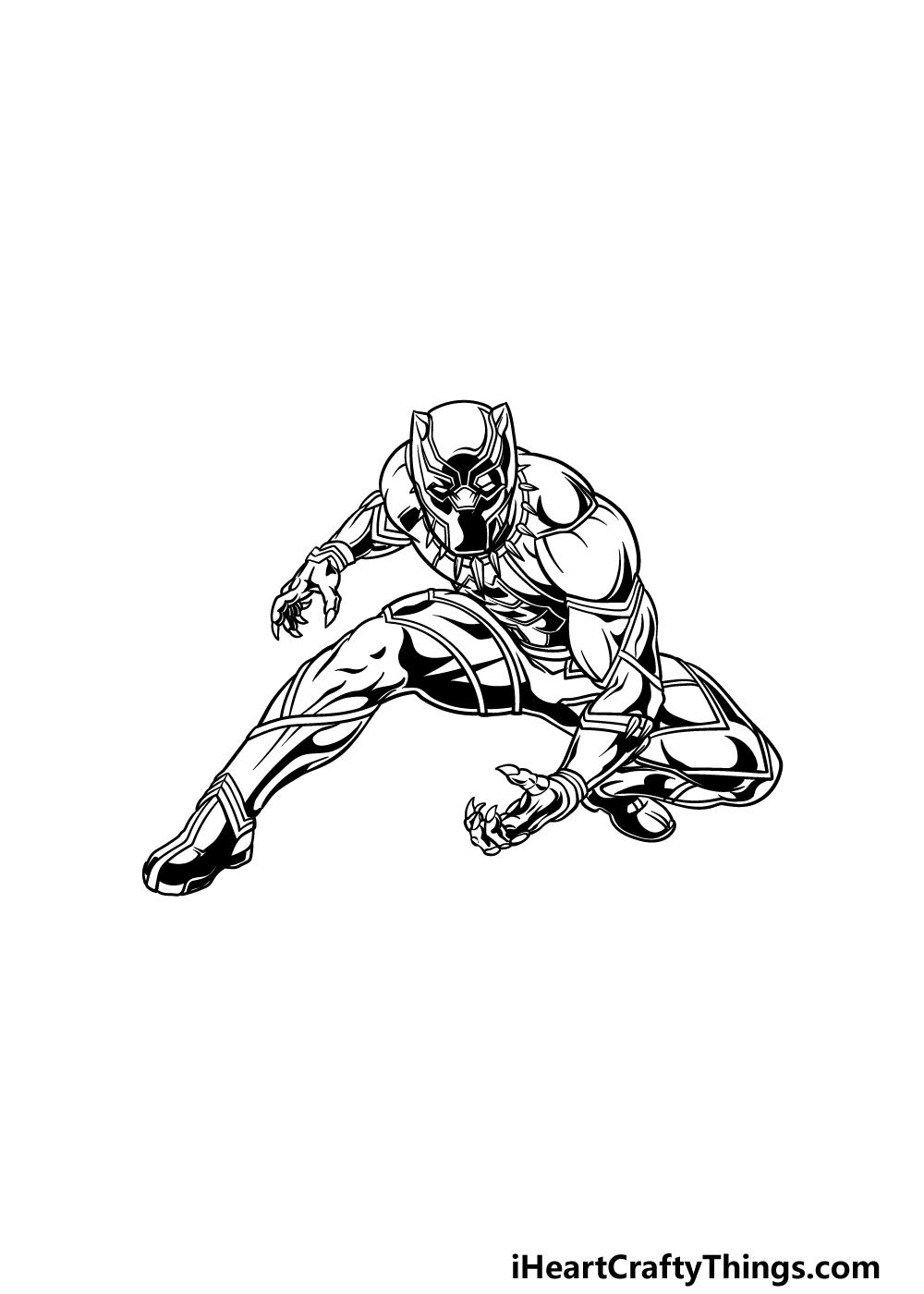 drawing Black Panther step 5