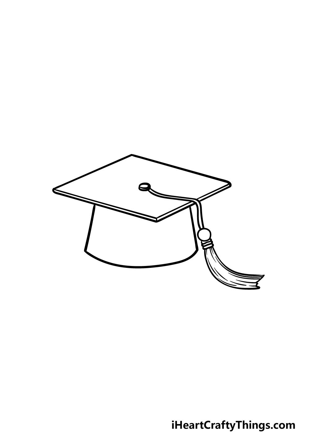 drawing Graduation Hat step 5