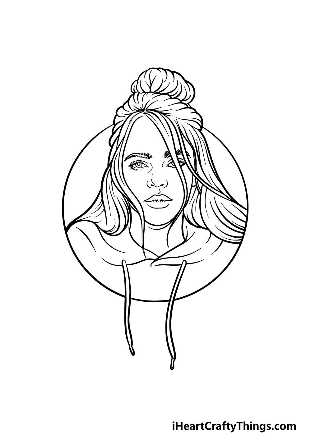drawing Billie Eilish step 5