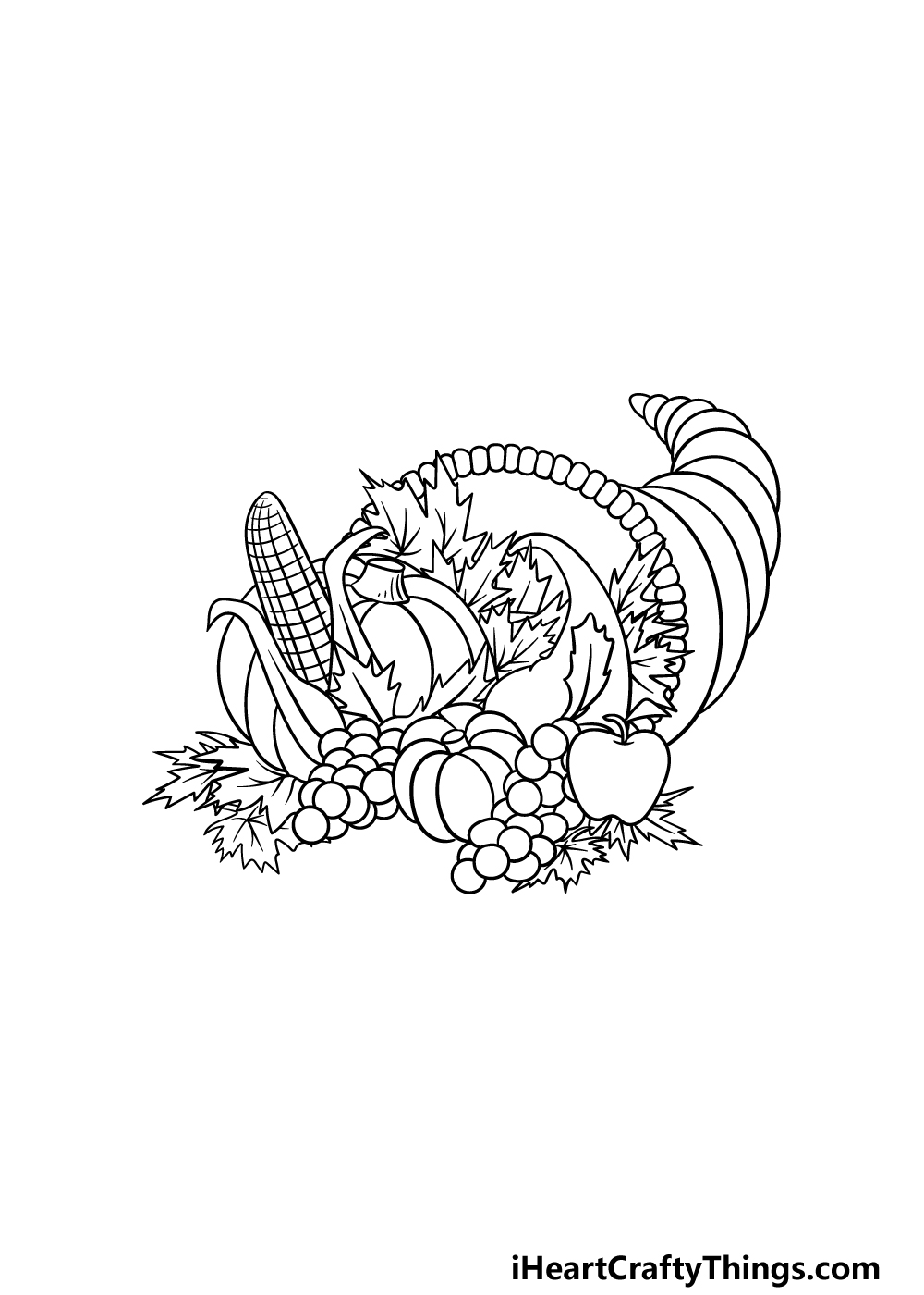 drawing Thanksgiving step 5