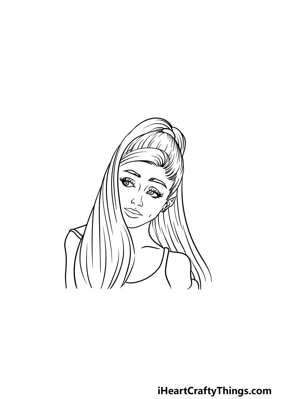 drawing Ariana Grande step 5