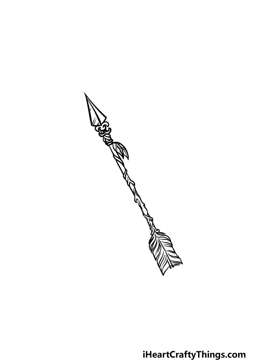drawing an arrow step 5