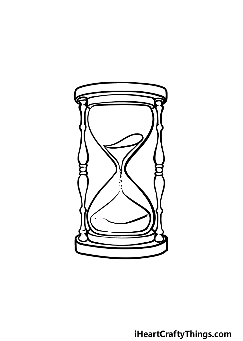 drawing an hourglass step 5