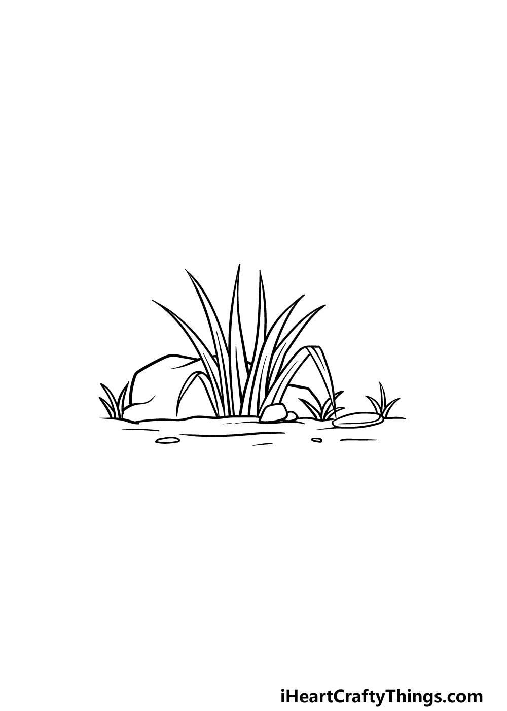 drawing grass step 5