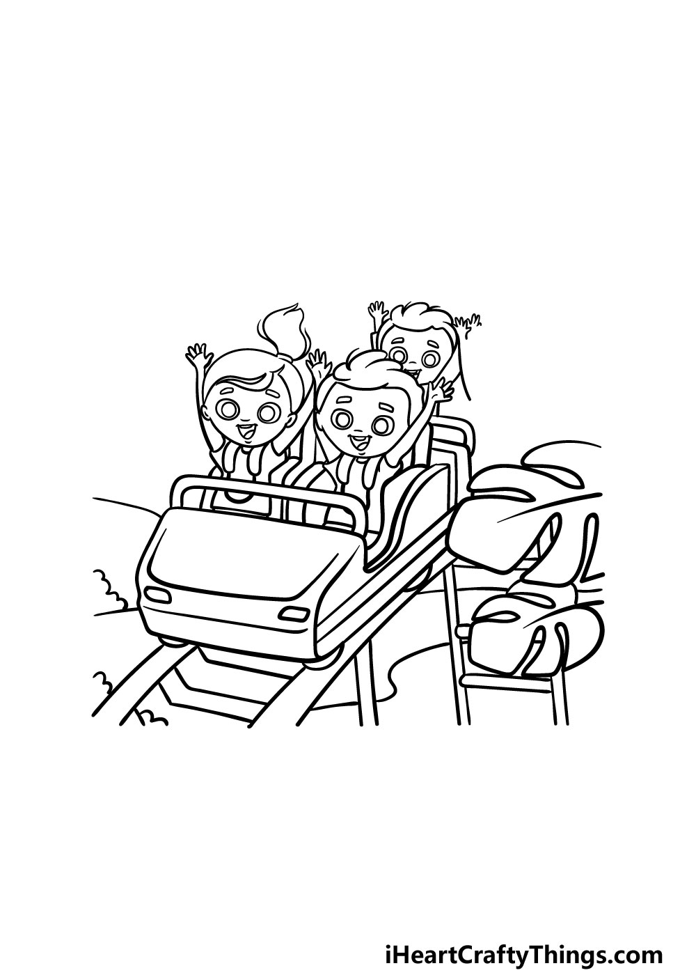 drawing a roller coaster step 5