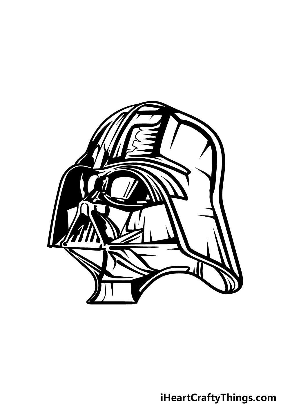 drawing Darth Vader step 5